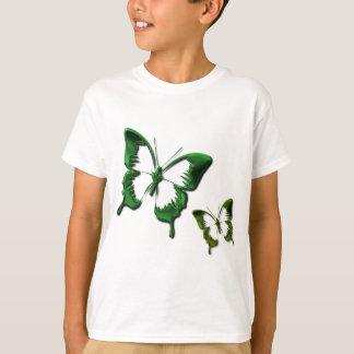 Le T-shirt des enfants verts de papillons