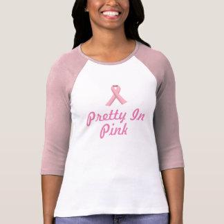 Le T-shirt des femmes avec le ruban rose