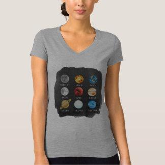 Le T-shirt des femmes d'aquarelle de système