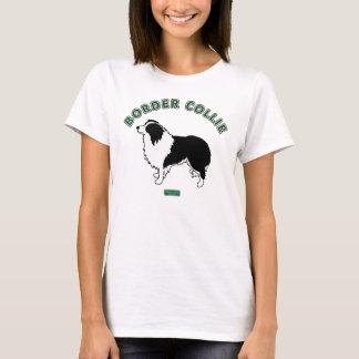 Le T-shirt des femmes de border collie (blanc)
