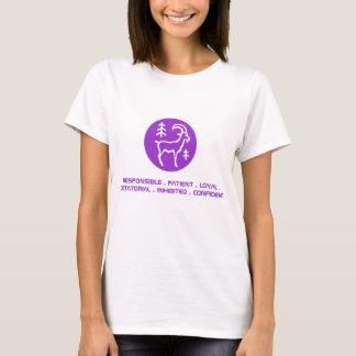 Le T-shirt des femmes de Capricorne