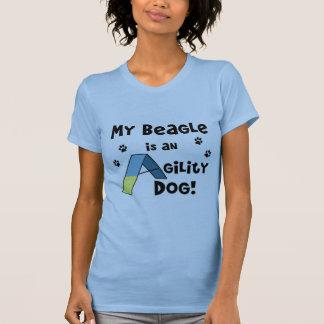 Le T-shirt des femmes de chien d'agilité de beagle