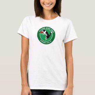 Le T-shirt des femmes de chien de disque de vol de