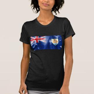 Le T-shirt des femmes de drapeau d'Anguilla