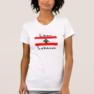 Le T-shirt des femmes de drapeau de Liban Liban