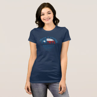 Le T-shirt des femmes de Harvey d'ouragan fort du