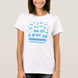 Le T-shirt des femmes de Letterland   cyan