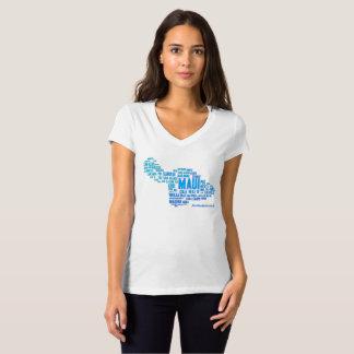 Le T-shirt des femmes de nuage de mot de Maui
