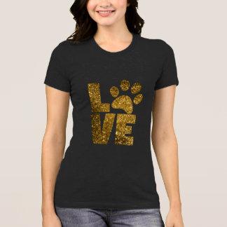 Le T-shirt des femmes de Pawprint d'amour