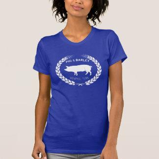 Le T-shirt des femmes de porc et d'orge