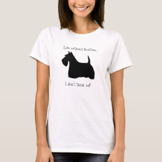 Le T-shirt des femmes de silhouette de chien de