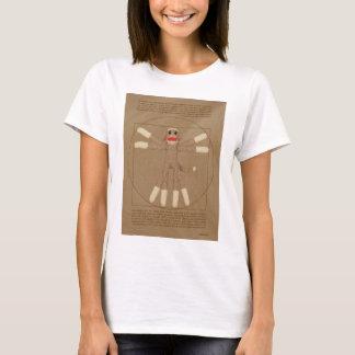 Le T-shirt des femmes de singe de Vitruvian