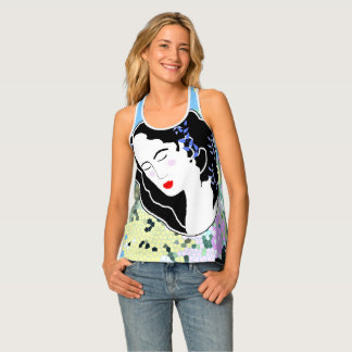 Le T-shirt des femmes de sommeil de fleur partout