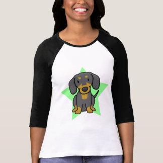 Le T-shirt des femmes de teckel d'étoile de Kawaii