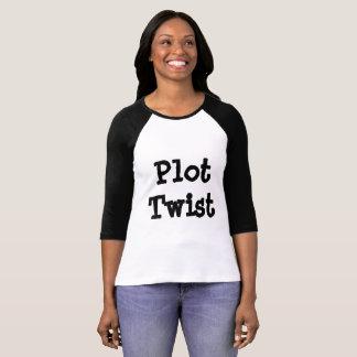 Le T-shirt des femmes de torsion de complot