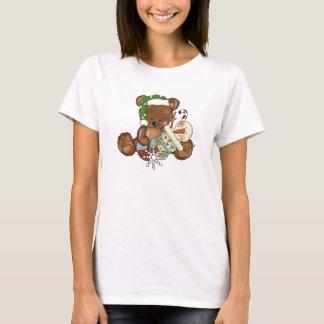 Le T-shirt des femmes de vacances d'ours de Noël