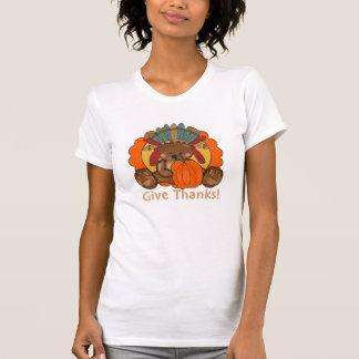 Le T-shirt des femmes de vacances d'ours de thanks