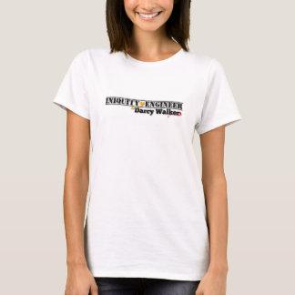 Le T-shirt des femmes d'ingénieur d'iniquité,