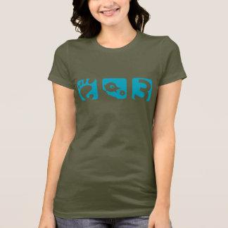 Le T-shirt des femmes d'oiseau du GNOME 3