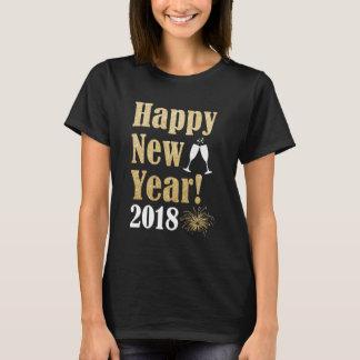 Le T-shirt des femmes d'or d'étincelle de la bonne