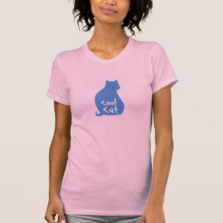 Le T-shirt des femmes fraîches de chat