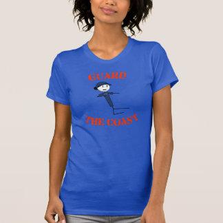 """Le T-shirt des femmes """"gardez côte"""" (le texte"""