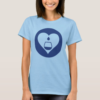 Le T-shirt des femmes graphiques de logo de marine