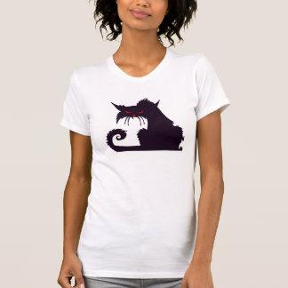 Le T-shirt des femmes grincheuses de chat noir