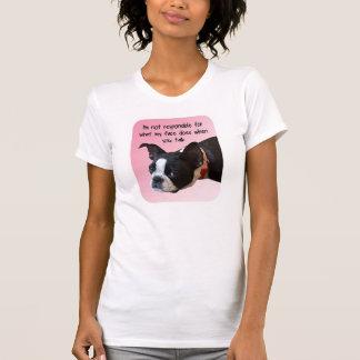 Le T-shirt des femmes non responsables de Boston