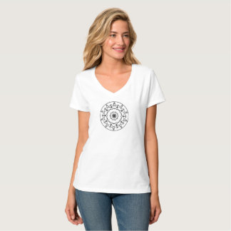Le T-shirt des femmes, roses sans épines