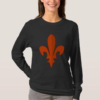 Le T-shirt des femmes rouges classiques de Fleur