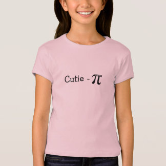 Le T-shirt des filles Cutie-Pi (tarte) roses