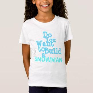 """Le T-shirt des filles de """"bonhomme de neige"""""""