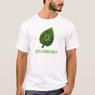 Le T-shirt des hommes amicaux d'Eco