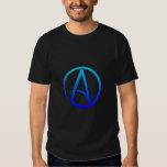 Le T-shirt des hommes athées de symbole