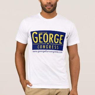 Le T-shirt des hommes avec le logo et le site Web