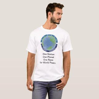 Le T-shirt des hommes avec le logo et le slogan du