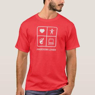 Le T-shirt des hommes d'amant de liberté de GNOME