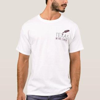 Le T-shirt des hommes d'amateur de vin du Texas