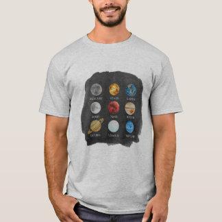 Le T-shirt des hommes d'aquarelle de système