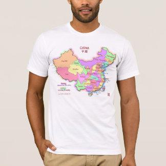 Le T-shirt des hommes de carte de la Chine