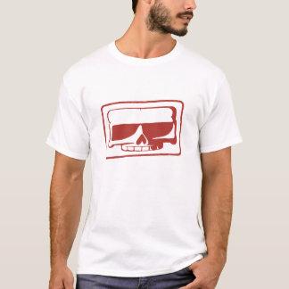 Le T-shirt des hommes de crâne de timbre d'encre