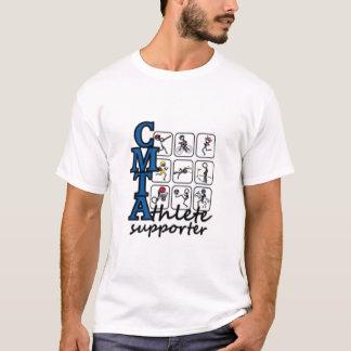 Le T-shirt des hommes de défenseur d'athlète de