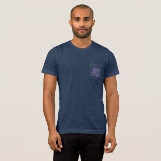 Le T-shirt des hommes de dos de drapeau de poche