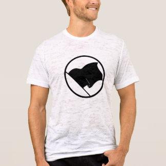 Le T-shirt des hommes de drapeau noir d'anarchiste