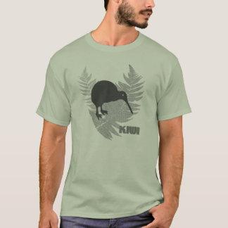 Le T-shirt des hommes de kiwi de fougère argentée