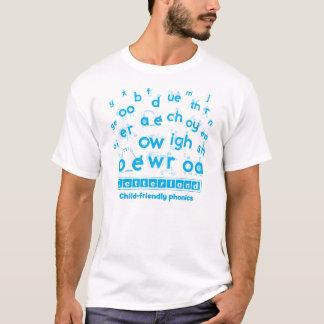 Le T-shirt des hommes de Letterland   cyan