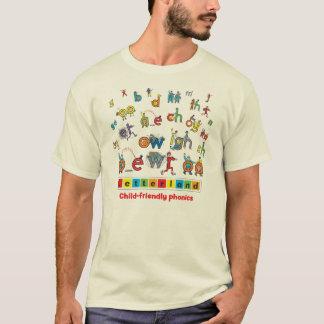 Le T-shirt des hommes de Letterland | polychrome