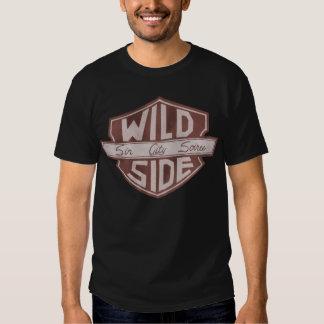 Le T-shirt des hommes de logo de bouclier de VWS