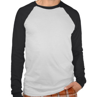 Le T-shirt des hommes de Long-douille de panda